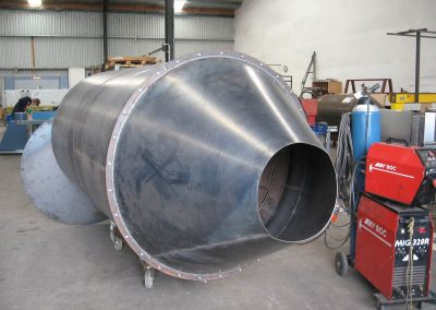 large-round-metal-container